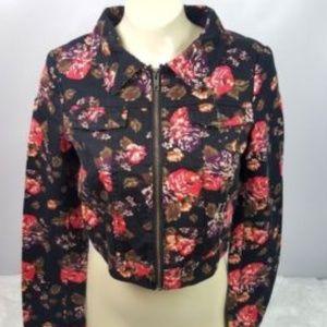 H&M bolero jacket floral denim style